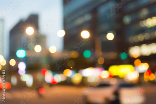 Abstract urban background poster