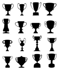 Trophy icons set