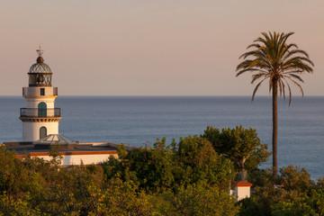 Lighthouse in sunset light.