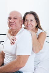 Portrait of beautiful elderly couple