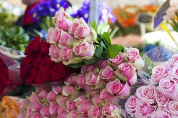 フランス マルシェ イメージ  花屋 クローズアップ