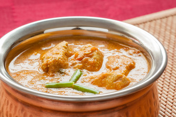 Indian Chicken Curry Closeup