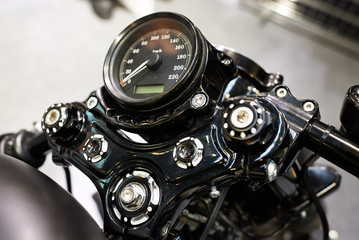 Motorcycle classic speedometer
