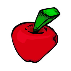 Painted red apple