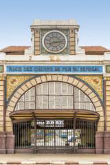 Abandoned railway station of Dakar, Senegal, colonial building