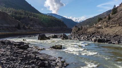 Kayaking in the Rapids of the Fraser Canyon