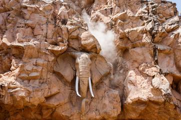 elephant statue on the Bridge of Time, Sun City resort