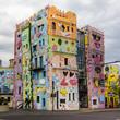 Leinwanddruck Bild - Happies house in the world
