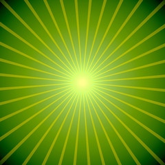 Abstract green burst St.Patricks Day background.