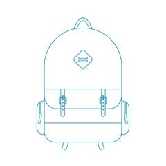 blue outline backpack