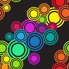 Seamless rainbow diagonal circles  pattern. Texture Background.