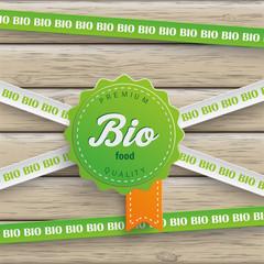Bio Sticker Lines Bio Food Wood
