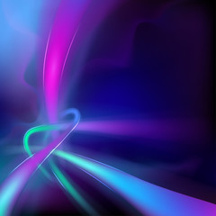 Vector -- abstract background with glowing flowing lines