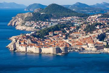 aerial view of Dubrovnik. Croatia.
