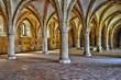 interior of Alcobaca monastery in Portugal