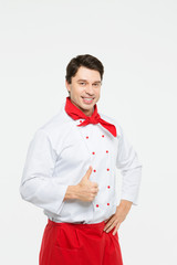 A male chef isolated