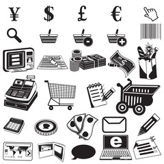 shopping black icons