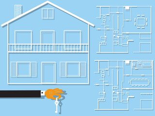 home plans flat design