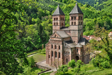 France,  roman abbey of Murbach in Alsace