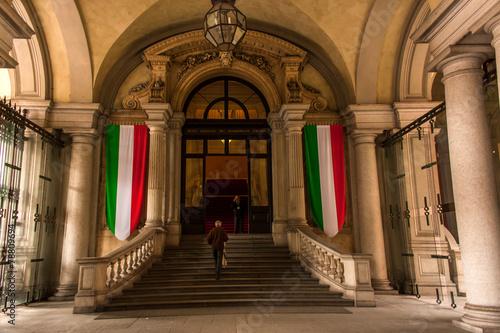 Leinwanddruck Bild Palazzo Carignano