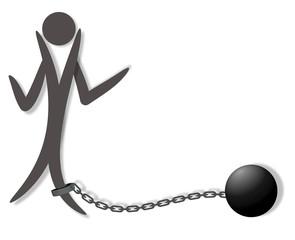 zincirle bağlı insan