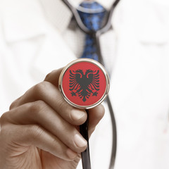 Stethoscope with national flag conceptual series - Albania