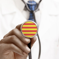 Stethoscope with national flag conceptual series - Catalonia - S