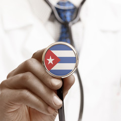 Stethoscope with national flag conceptual series - Cuba