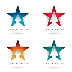 star shaped logos
