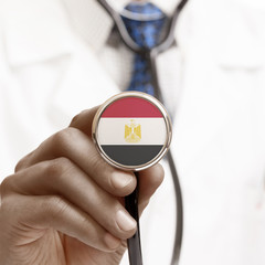 Stethoscope with national flag conceptual series - Egypt