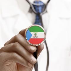 Stethoscope with national flag conceptual series - Equatorial Gu