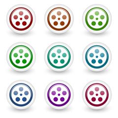 movie vector icons set