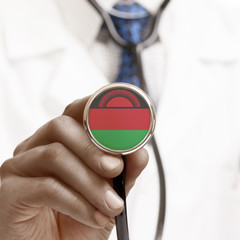 Stethoscope with national flag conceptual series - Malawi