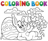 Coloring book Easter rabbit theme 2 - 78813033