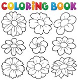 Coloring book with flower theme 8 - 78813059