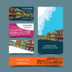 Cityscape card set