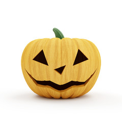 Halloween Jack O Lantern Pumpkin isolated on white background