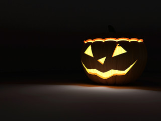Halloween Jack O Lantern Pumpkin with Fire Light Inside
