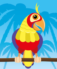 Vector illustration. Parrot.
