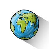 Fototapety Doodle globe