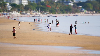 Miniature HuaHin Beach TimeLapse TiltShift
