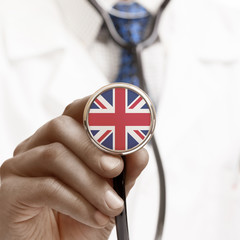 Stethoscope with national flag conceptual series - United Kingdo