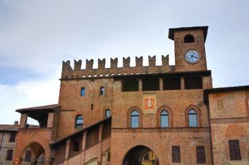 Podestà palace. Castellarquato. Emilia-Romagna. Italy.
