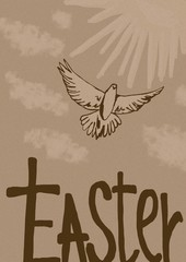 Easter dove vintage