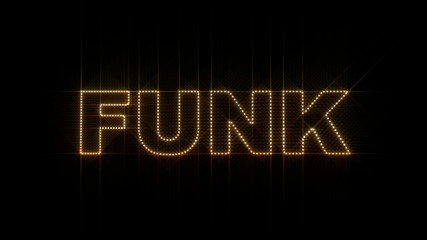 "Set of 10 ""FUNK"" text LEDS reveals with alpha channel"