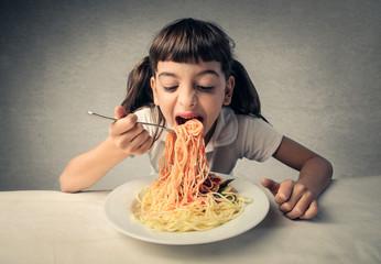 Eating pasta