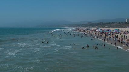 Time Lapse of Busy Santa Monica Beach
