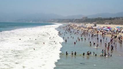 Santa Monica Beach - Tilt Shift / Zoom