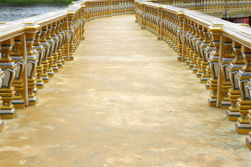 gold  bridge in thailand