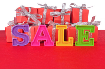 Sale written by colorful letters